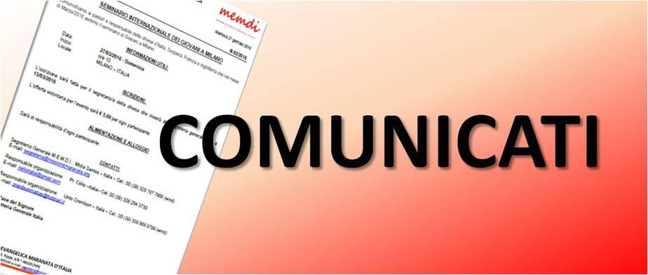 COMUNICATI